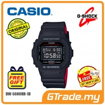 CASIO G-Shock DW-5600HR-1E Men Watch | Black X Red Heritage Color