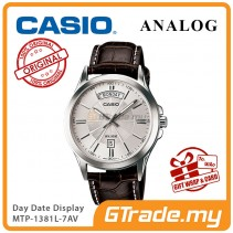 [READY STOCK] CASIO ANALOG MTP-1381L-7AV Men Watch | Day Date 50 Meter Water Resist