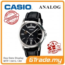 [READY STOCK] CASIO ANALOG MTP-1381L-1AV Men Watch | Day Date 50 Meter Water Resist