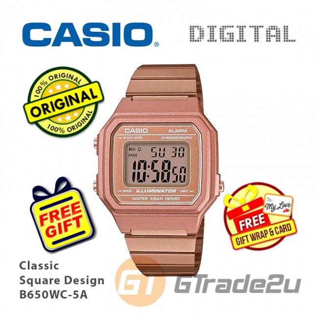 [READY STOCK] CASIO Men B650WC-5A Digital Watch | Classic Square Design