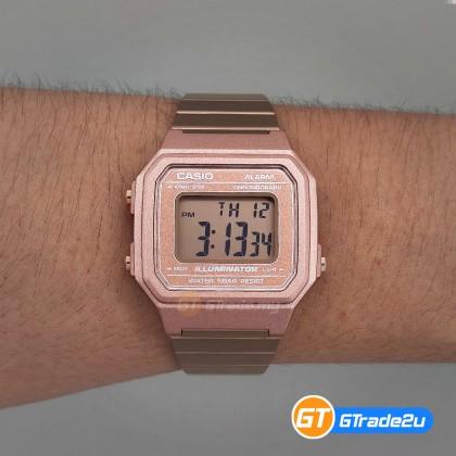 [READY STOCK] CASIO STANDARD Men B650WC-5A Digital Daily alarm Watch Rose Gold Stainless Steel Band watch for man . jam tangan lelaki . men watch . watch for men . casio watch for men . casio watch