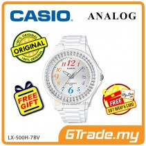 CASIO ANALOG LX-500H-7BV Ladies Watch | Shiny Ring Date Display