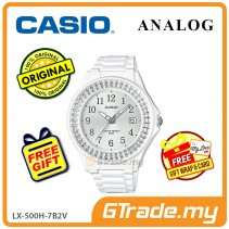 [READY STOCK] CASIO ANALOG LX-500H-7B2V Ladies Watch | Shiny Ring Date Display