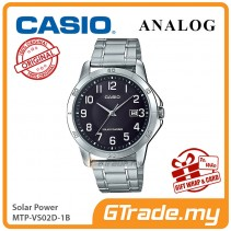 CASIO MEN MTP-VS02D-1B Analog Watch | Solar Power