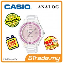 CASIO ANALOG LX-500H-4EV Ladies Watch | Shiny Ring Date Display