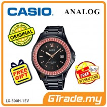 [READY STOCK] CASIO ANALOG LX-500H-1EV Ladies Watch | Shiny Ring Date Display