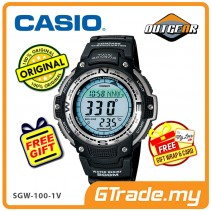 [READY STOCK] CASIO OUTGEAR SGW-100-1V Sport Gear Watch | Compass Thermo.