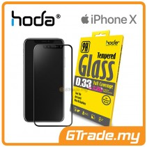 HODA 0.33mm Full Tempered Glass Screen Protector Apple iPhone X Black