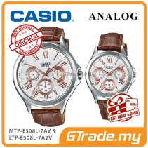 CASIO MULTI-HANDS MTP-E308L-7AV & LTP-E308L-7A2V Analog Couple Watch