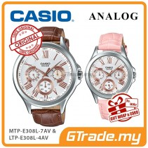 CASIO MULTI-HANDS MTP-E308L-7AV & LTP-E308L-4AV Analog Couple Watch