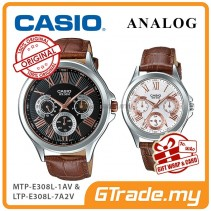 CASIO MULTI-HANDS MTP-E308L-1AV & LTP-E308L-7A2V Analog Couple Watch