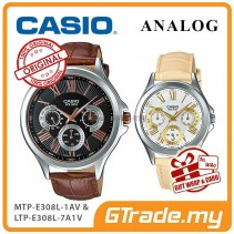 CASIO MULTI-HANDS MTP-E308L-1AV & LTP-E308L-7A1V Analog Couple Watch