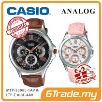 CASIO MULTI-HANDS MTP-E308L-1AV & LTP-E308L-4AV Analog Couple Watch