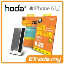 HODA Anti-Glare Tempered Glass Screen Protector iPhone 6S 6 White