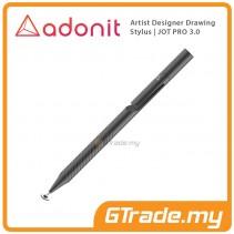 Adonit Jot PRO 3 Stylus Pen Professional Artist Drawing Designer Grey