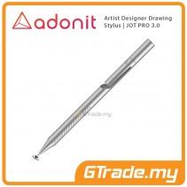 Adonit Jot PRO 3 Stylus Pen Professional Artist Drawing Designer Silver