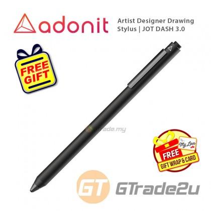 ADONIT Jot Dash 3 Stylus Pen Professional Artist Drawing Designer Black +Free Gift