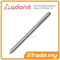 ADONIT Jot Dash 3 Stylus Pen Professional Artist Drawing Designer Silver
