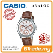 CASIO MULTI-HANDS LTP-E308L-7A2V Ladies Watch |24Hr Day Date Indicator