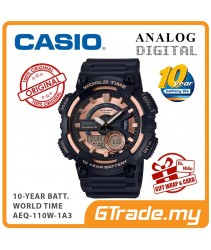 CASIO STANDARD AEQ-110W-1A3V Analog Digital Watch | 10 Years Battery