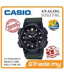 CASIO STANDARD AEQ-110W-3AV Analog Digital Watch | 10 Years Battery