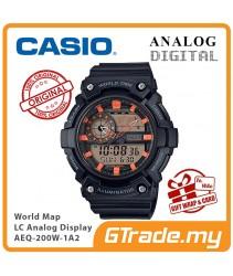 CASIO STANDARD AEQ-200W-1A2V Analog Digital Watch | World Map