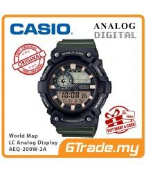 CASIO STANDARD AEQ-200W-3AV Analog Digital Watch | World Map