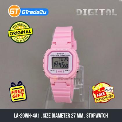 [READY STOCK] CASIO Kids Ladies LA-20WH-4A1 Digital Daily Alarm Watch Pink Resin Band jam tangan wanita . casio watch . casio watch women