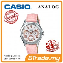 CASIO MULTI-HANDS LTP-E308L-4AV Ladies Watch | 24Hr Day Date Indicator
