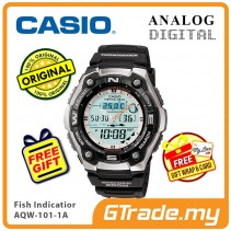 [READY STOCK] CASIO OutGear AQW-101-1A Men Digital Watch | Fish Indicator Thermo.