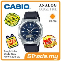 CASIO Men AMW-S820-2A Analog Digital Watch Tough Solar [PRE]