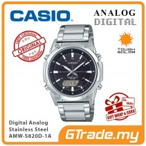 CASIO MEN AMW-S820D-1A Analog Digital Watch | Tough Solar