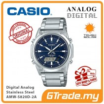 CASIO MEN AMW-S820D-2A Analog Digital Watch | Tough Solar