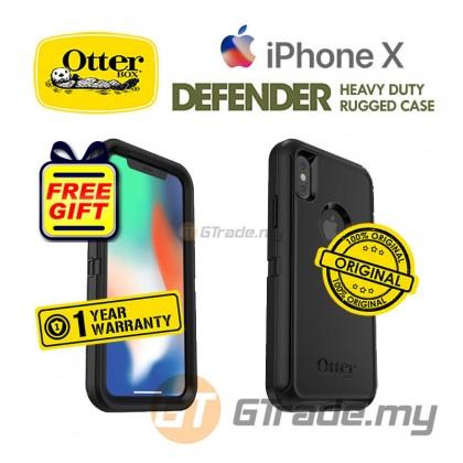 OTTERBOX Defender Belt Clip Holster Case Apple Iphone X Black *Free Gift