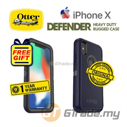 OTTERBOX Defender Belt Clip Holster Case Apple Iphone X Stormy Peaks *Free Gift
