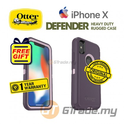OTTERBOX Defender Belt Clip Holster Case Apple Iphone X Purple *Free Gift