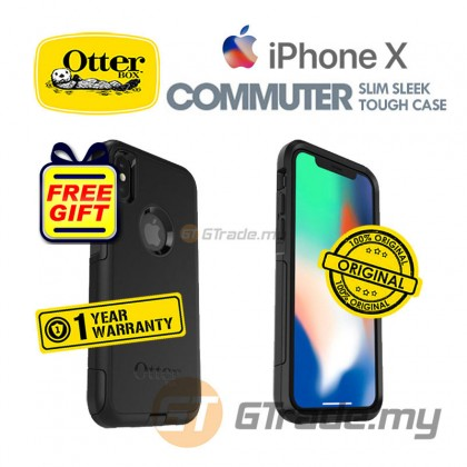 OTTERBOX Commuter Dual Layer Tough Case Apple Iphone X Black *Free Gift