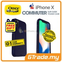 OTTERBOX Commuter Dual Layer Tough Case Apple Iphone X Indigo *Free Gift
