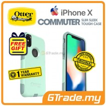 OTTERBOX Commuter Dual Layer Tough Case Apple Iphone X Ocean *Free Gift
