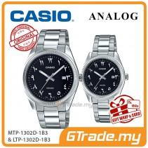 CASIO MTP-1302D-1B3 & LTP-1302D-1B3 Couple Watch | Arabic Numerals