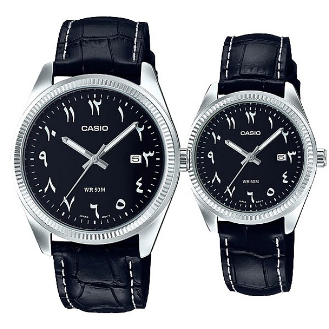 [READY STOCK] CASIO MTP-1302L-1B3 & LTP-1302L-1B3 Couple Watch | Arabic Numerals