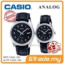 CASIO MTP-1302L-1B3 & LTP-1302L-1B3 Couple Watch | Arabic Numerals