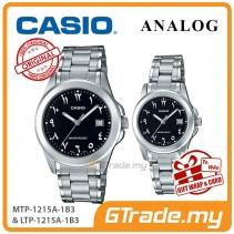 CASIO MTP-1215A-1B3 & LTP-1215A-1B3 Couple Watch | Arabic Numerals
