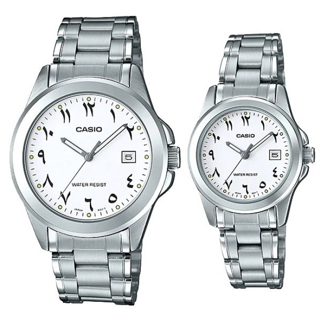 [READY STOCK] CASIO MTP-1215A-7B3 & LTP-1215A-7B3 Couple Watch | Arabic Numerals