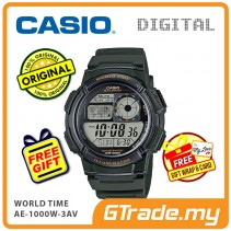 CASIO STANDARD AE-1000W-3AV Digital Watch | 10 Yrs Batt. WR100M