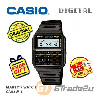 [READY STOCK] CASIO CA-53W-1 Digital Calculator Watch | Marty's Back to the future