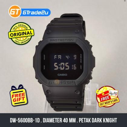 Casio G-Shock Men DW-5600BB-1D DW5600BB-1D DW-5600BB-1 Digital Petak Dark Knight Black Out Watch  Resin Band G Shock . watch for man . jam tangan lelaki . casio watch for men . casio watch . men watch . watch for men [READY STOCK]