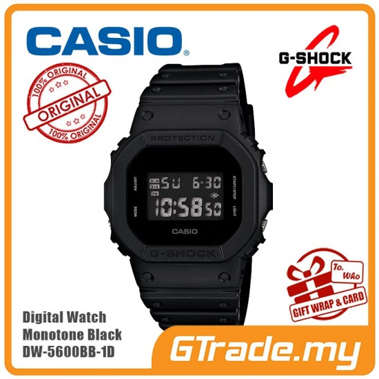 [READY STOCK] CASIO G-SHOCK DW-5600BB-1D Men Digital Watch | Monotone Black