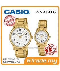 CASIO MTP-V002G-7B2 & LTP-V002G-7B2 Couple Watch   Simple Easy Design