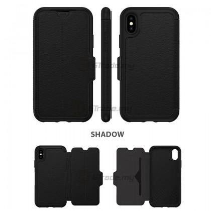 OTTERBOX Strada Folio Premium Leather Case Apple Iphone X Shadow *Free Gift